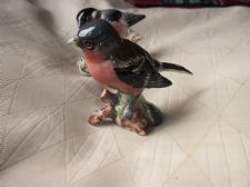 COLLECTABLE GLAZED BIRD FIGURINE BESWICK CHAFFINCH 991 EX & BULLFINCH 1042 TLC